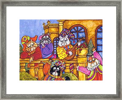 Tuscany Cats Framed Print by Sherry Dole