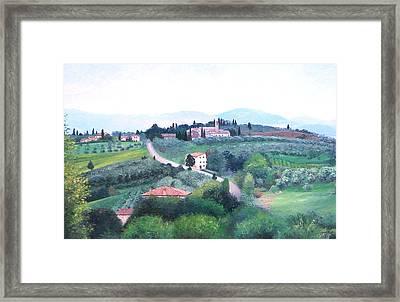 Tuscany Landscape Framed Print by Jan Matson