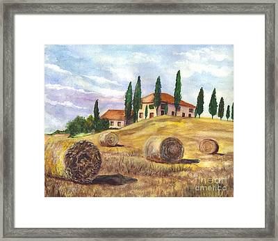 Tuscany Villa Framed Print by Carol Wisniewski