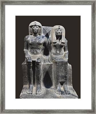 Tuthmosis Iv And His Mother Tiy. 1401 Framed Print by Everett