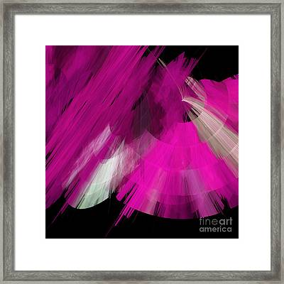 Tutu Stage Left Abstract Fuchsia Framed Print by Andee Design