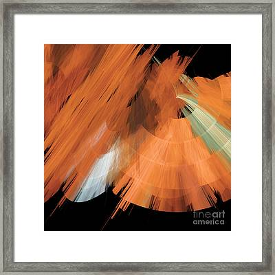 Tutu Stage Left Peach Abstract Framed Print by Andee Design