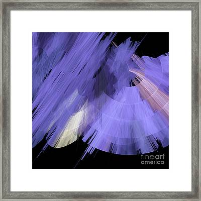 Tutu Stage Left Periwinkle Abstract Framed Print by Andee Design