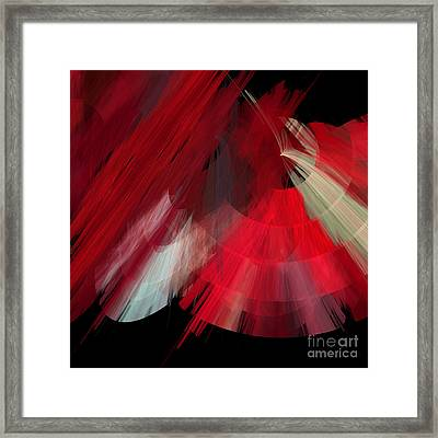 Tutu Stage Left Red Abstract Framed Print by Andee Design