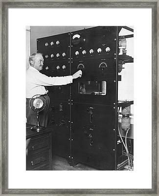 Tv Pioneer Francis Jenkins Framed Print by Underwood Archives