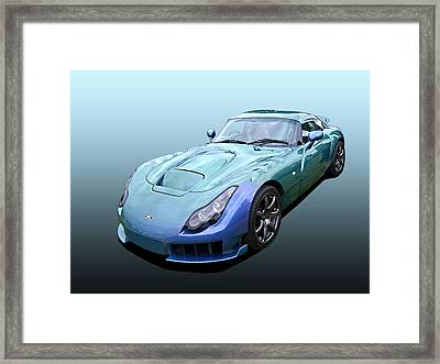Tvr Sagaris Chameleon Green Framed Print by Gill Billington