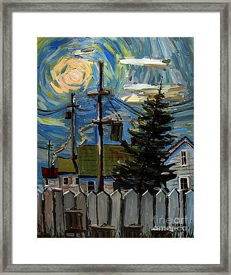 Twas The Night Before Framed Print by Charlie Spear