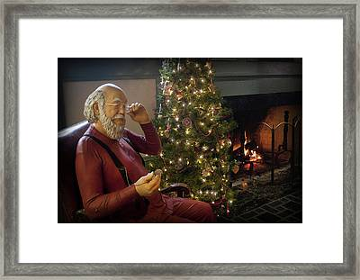 Twas The Night Before Christmas Framed Print by Cindy Haggerty