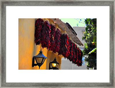 Twelve Ristras Framed Print by Jan Amiss Photography