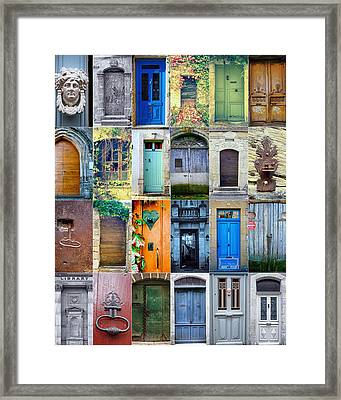 Twenty Four French Doors Collage Framed Print by Georgia Fowler