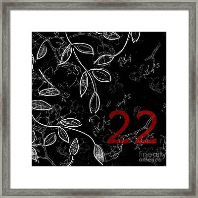 Twenty-two - Bwr01 Framed Print by Variance Collections