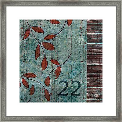 Twenty-two - Dc0102 Framed Print by Variance Collections