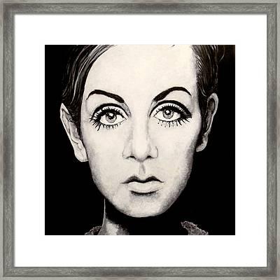 Twiggy Framed Print by Austin Angelozzi