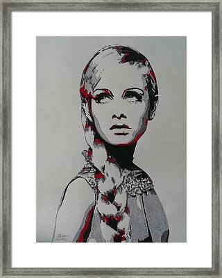 Twiggy Framed Print by Kevin Wood