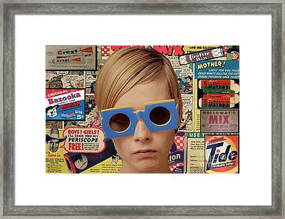 Twiggy Pop  Framed Print by Chandler  Douglas