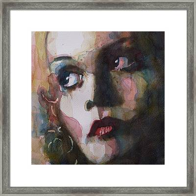 Twiggy Where Do You Go My Lovely Framed Print by Paul Lovering