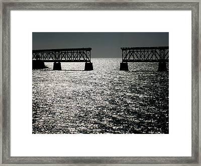 Twilgiht Railroad Framed Print by Karen Wiles