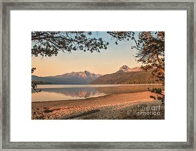 Twilight At Redfish Lake  Framed Print by Robert Bales