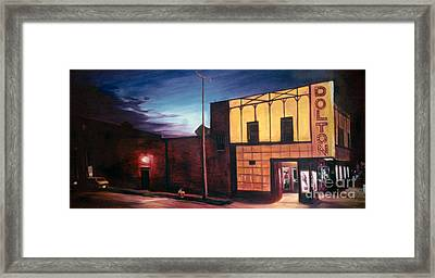 Twilight At The Dolton Theater Framed Print by Christopher Buoscio