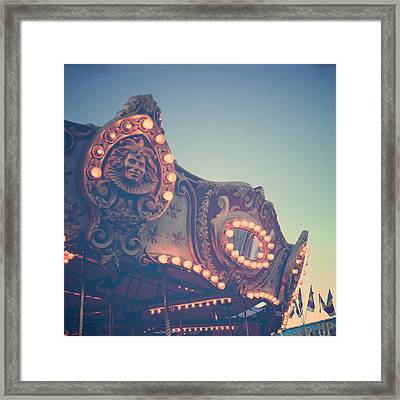 Twilight Carnival Ride Framed Print by Joy StClaire