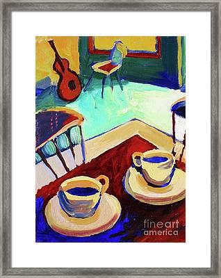 Twilight Coffee Cafe Framed Print by Frederick  Luff