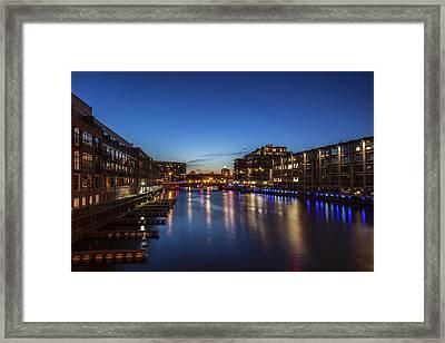 Twilight Docks Framed Print by CJ Schmit