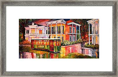 Twilight In The Garden District Framed Print by Diane Millsap