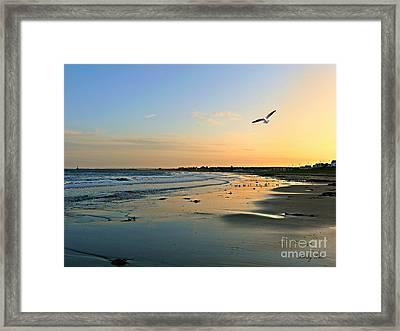 Twilight In Seaburn Framed Print by Morag Bates