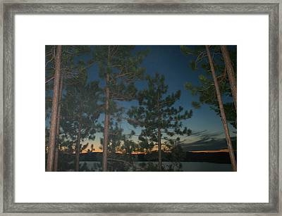 Twilight Framed Print by Kathy Peltomaa Lewis