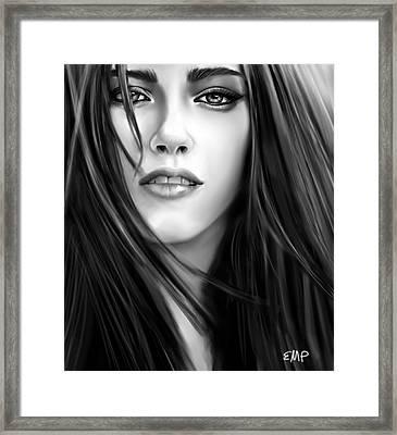 Twilight-kristen Stewart Framed Print by Lisa Pence