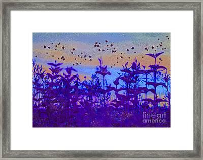 Twilight Meadow Magic Framed Print by First Star Art