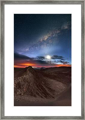 Twilight Over Valle De La Luna Framed Print by Babak Tafreshi