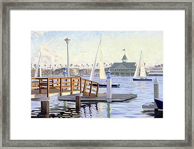 Twilight Sail Framed Print by Steve Simon