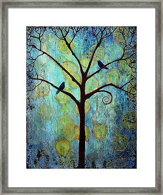 Twilight Tree Of Life Framed Print by Blenda Studio