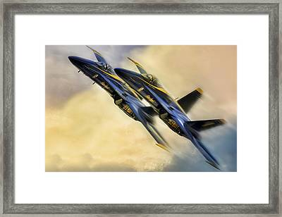 Twin Angels Framed Print by Peter Chilelli
