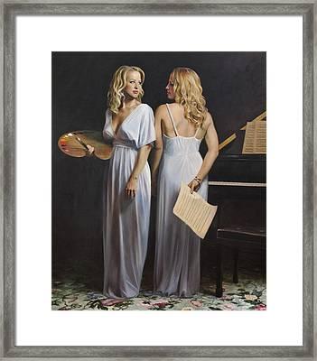Twin Arts Framed Print by Anna Rose Bain