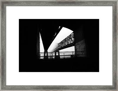 Twin Bridges Framed Print by Leon Hollins III