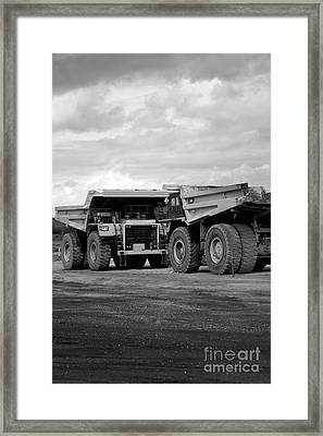 Twin Caterpillar Trucks Framed Print by Alanna DPhoto