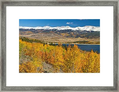 Twin Lakes Colorado Autumn Landscape Framed Print by James BO  Insogna