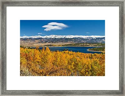 Twin Lakes Colorado Autumn Snow Dusted Mountains Framed Print by James BO  Insogna