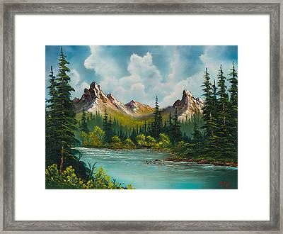 Twin Peaks River Framed Print by C Steele