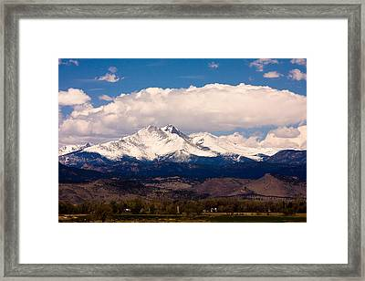 Twin Peaks Snow Covered Framed Print by James BO  Insogna