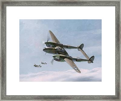Twin-tailed Dragons Framed Print by Wade Meyers