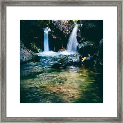 Twin Waterfall Framed Print by Stelios Kleanthous