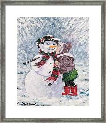 Twinkle In His Eye Framed Print by Sharon Duguay