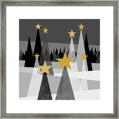 Twinkle Lights Framed Print by Val Arie