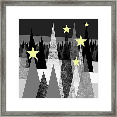 Twinkle Night Framed Print by Val Arie