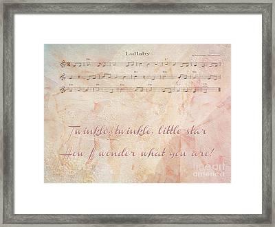 Twinkle Twinkle Little Star Framed Print by Beverly Guilliams