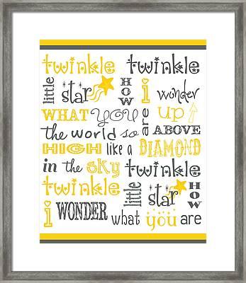 Twinkle Twinkle Little Star Framed Print by Jaime Friedman