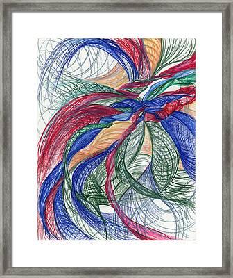 Twirls And Cloth Framed Print by Kelly K H B